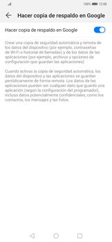 Realiza una copia de seguridad con tu cuenta - Huawei Mate 20 Pro - Passo 7