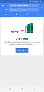 Uso de la navegación GPS - Samsung Galaxy S8+ - Passo 14