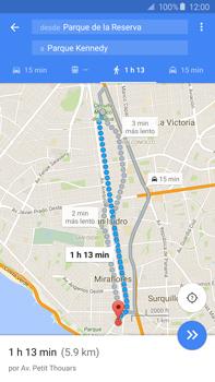 Uso de la navegación GPS - Samsung Galaxy Note 5 - N920 - Passo 16