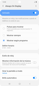 Cómo activar Always on Display - Samsung Galaxy S10 Lite - Passo 13