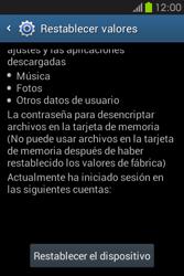 Restaura la configuración de fábrica - Samsung Galaxy Fame GT - S6810 - Passo 6