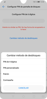 Desbloqueo del equipo por medio del patrón - Huawei Y7 2019 - Passo 7