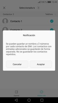 ¿Tu equipo puede copiar contactos a la SIM card? - Huawei Mate 8 - Passo 9
