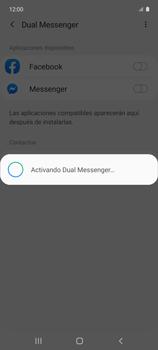 Cómo usar el Dual Messenger - Samsung Galaxy A51 - Passo 9