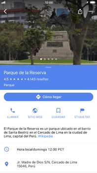 Uso de la navegación GPS - Apple iPhone 8 Plus - Passo 9