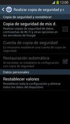 Restaura la configuración de fábrica - Samsung Galaxy S4  GT - I9500 - Passo 6