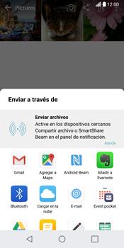Transferir fotos vía Bluetooth - LG G6 - Passo 9