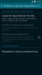Restaura la configuración de fábrica - Samsung Galaxy S5 - G900F - Passo 5