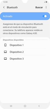 Conecta con otro dispositivo Bluetooth - Samsung Galaxy A30 - Passo 7