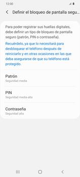 Habilitar seguridad de huella digital - Samsung Galaxy S20 - Passo 6