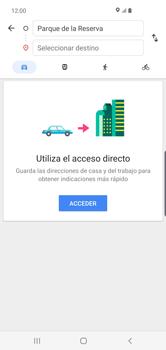 Uso de la navegación GPS - Samsung S10+ - Passo 13