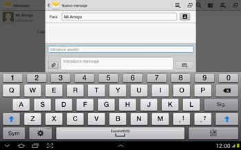 Envía fotos, videos y audio por mensaje de texto - Samsung Galaxy Note 10-1 - N8000 - Passo 9