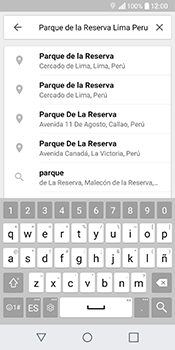 Uso de la navegación GPS - LG Q6 - Passo 9