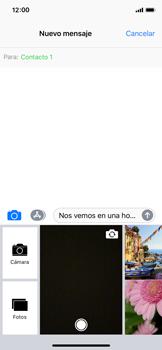 Envía fotos, videos y audio por mensaje de texto - Apple iPhone X - Passo 10