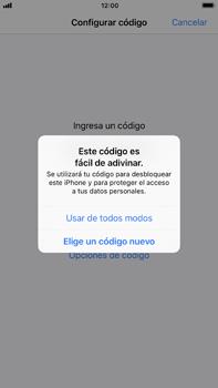 Activa o desactiva el uso del código de seguridad - Apple iPhone 8 Plus - Passo 5