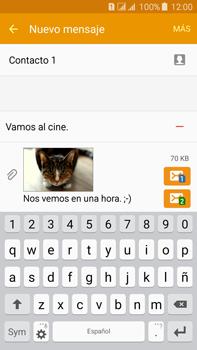 Envía fotos, videos y audio por mensaje de texto - Samsung Galaxy J7 - J700 - Passo 24