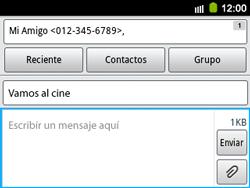 Envía fotos, videos y audio por mensaje de texto - Samsung Galaxy Y Pro GT - B5510 - Passo 10