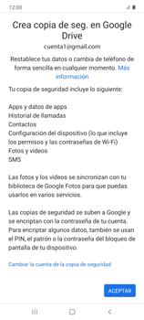 Realiza una copia de seguridad con tu cuenta - Samsung Galaxy S10 Lite - Passo 12
