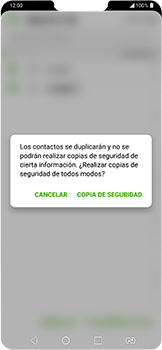 ¿Tu equipo puede copiar contactos a la SIM card? - LG G7 Fit - Passo 12