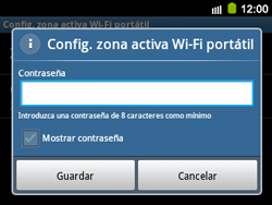 Configura el hotspot móvil - Samsung Galaxy Y Pro GT - B5510 - Passo 10
