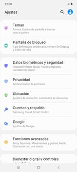 Habilitar seguridad de huella digital - Samsung Galaxy S10 Lite - Passo 3