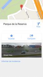 Uso de la navegación GPS - Apple iPhone 5c - Passo 15