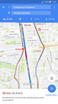 Uso de la navegación GPS - Samsung Galaxy A7 2017 - A720 - Passo 14