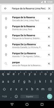 Uso de la navegación GPS - Motorola Moto G6 Play - Passo 7