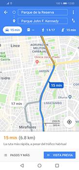Uso de la navegación GPS - Huawei Mate 20 Lite - Passo 15