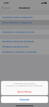 Restaura la configuración de fábrica - Apple iPhone XS Max - Passo 6