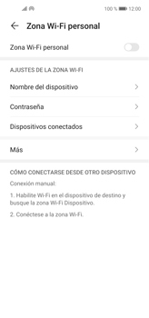 Configura el hotspot móvil - Huawei P40 Lite - Passo 5