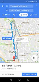 Uso de la navegación GPS - Huawei P20 Lite - Passo 15
