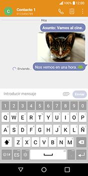 Envía fotos, videos y audio por mensaje de texto - LG Q6 - Passo 20