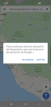 Uso de la navegación GPS - Samsung S10+ - Passo 6