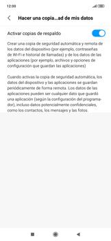 Realiza una copia de seguridad con tu cuenta - Xiaomi Redmi Note 7 - Passo 7