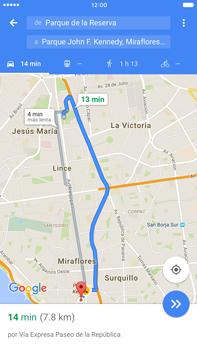 Uso de la navegación GPS - Apple iPhone 6 Plus - Passo 18