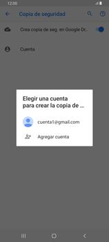 Realiza una copia de seguridad con tu cuenta - Samsung Galaxy A80 - Passo 9