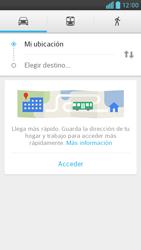 Uso de la navegación GPS - LG Optimus G Pro Lite - Passo 10