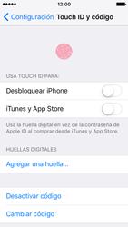 Activa o desactiva el uso del código de seguridad - Apple iPhone SE - Passo 7
