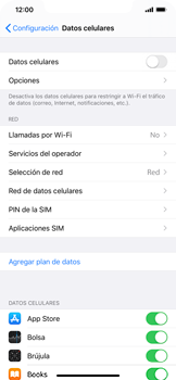 Desactiva tu conexión de datos - Apple iPhone 11 - Passo 4