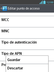 Configura el Internet - LG Optimus L3 II - Passo 15