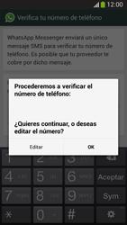 Configuración de Whatsapp - Samsung Galaxy Zoom S4 - C105 - Passo 6