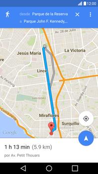 Uso de la navegación GPS - LG V10 - Passo 20