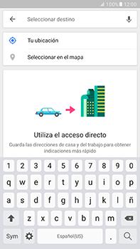 Uso de la navegación GPS - Samsung Galaxy A7 2017 - A720 - Passo 12