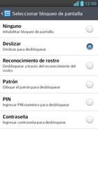 Activa o desactiva el uso del código de seguridad - LG Optimus G Pro Lite - Passo 5