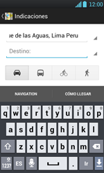Uso de la navegación GPS - LG Optimus L7 - Passo 12