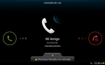 Contesta, rechaza o silencia una llamada - Samsung Galaxy Note 10-1 - N8000 - Passo 4