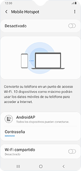 Configura el hotspot móvil - Samsung Galaxy A10 - Passo 7