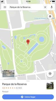 Uso de la navegación GPS - Apple iPhone 8 Plus - Passo 8