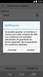 ¿Tu equipo puede copiar contactos a la SIM card? - Huawei Ascend P6 - Passo 10